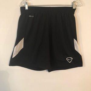 Nike Soccer Shorts Dri Fit Men's Black Size M